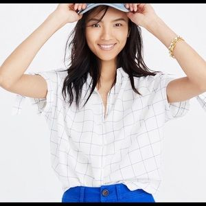 Madewell Tie Sleeve Button Down